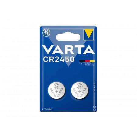 2 Piles bouton Lithium CR 2450 VARTA