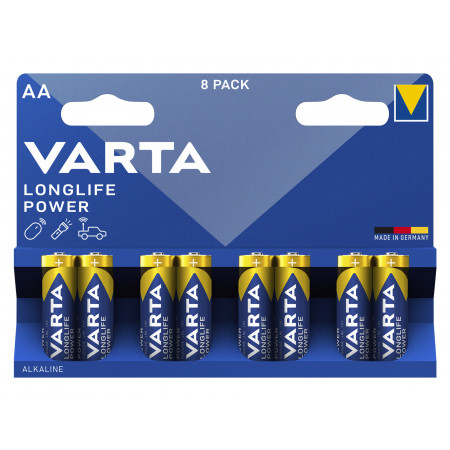 8 Piles alcaline High Energy LR06 VARTA