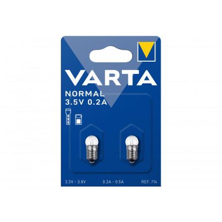 Ampoule Argon VARTA vis 3,5V 0,2A X2