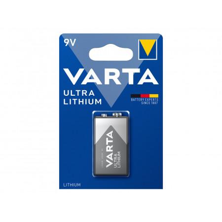 Pile lithium 9V VARTA spéciale détecteur de fumée