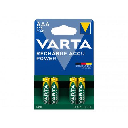 Pile rechargeable AAA 800mAH x4 VARTA
