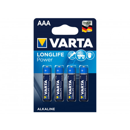 Piles alcalines VARTA LONGLIFE POWER LR3-AAA x4