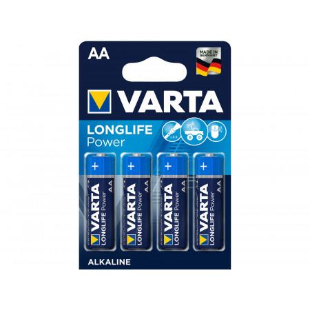 Piles alcalines VARTA LONGLIFE POWER LR6-AA x4