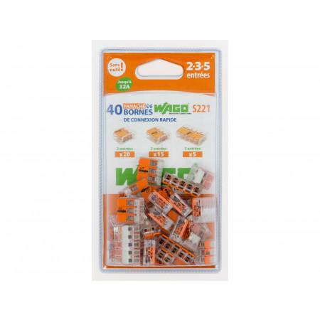 Bornes de connexion S221 assortiment de 2 à 5 entrées X40