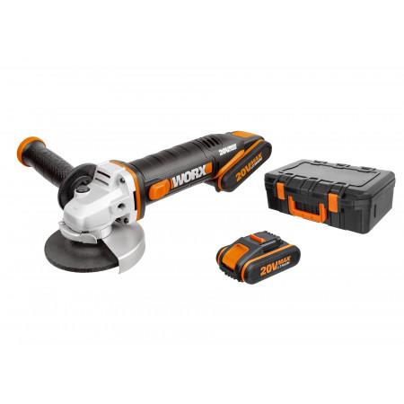Meuleuse 115mm sans fil 20V 2 batteries WORX WX800
