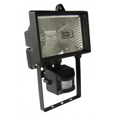 Projecteur halogène 150W noir + détecteur