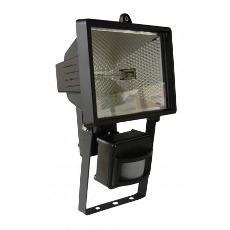 Projecteur halogène 500W noir + détecteur