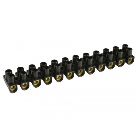 Barrette de connexion 6mm² noir 12 plots