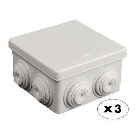 Boîte de dérivation étanche carrée 80X80 X3