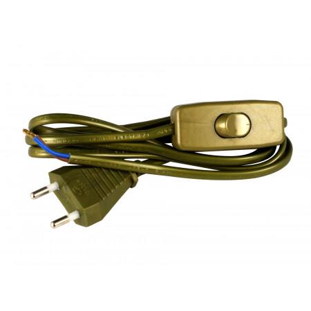 Câble avec interrupteur pour luminaire 1.5m or