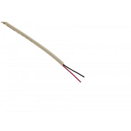 Câble de téléphone 1 paire 0,6 ivoire 10m