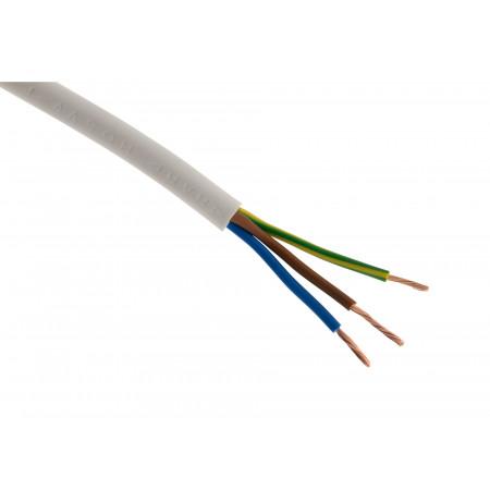 Câble électrique H05VVF 3G1.5 50m blanc
