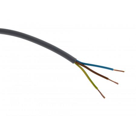 Câble électrique H05VVF 3G1.5 gris - Au mètre