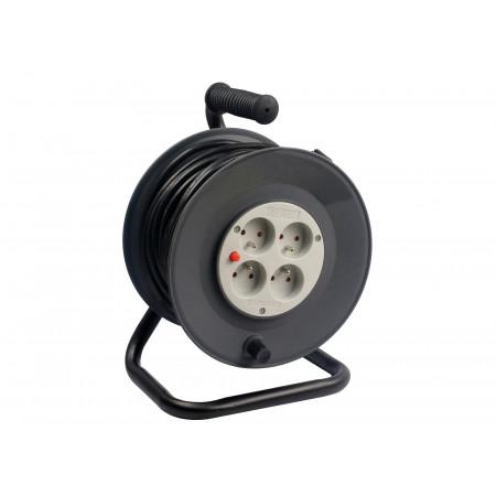Enrouleur câble électrique 4 prises 3G1.5 25m