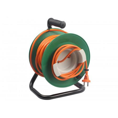 Enrouleur câble électrique sans prises 2X1.5 mm² 25m