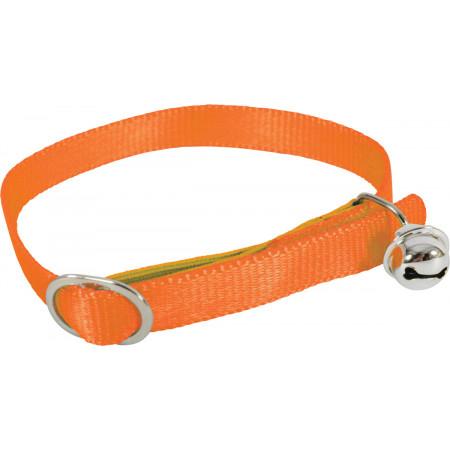Collier chat nylon orange