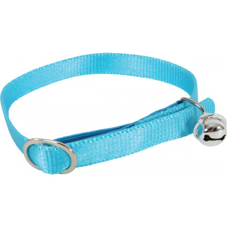Collier chat nylon turquoise