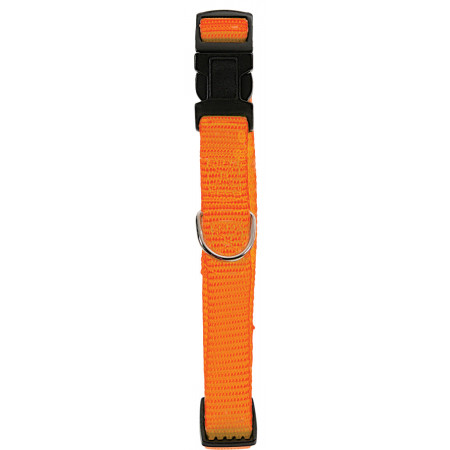Collier chien réglable 15mm orange