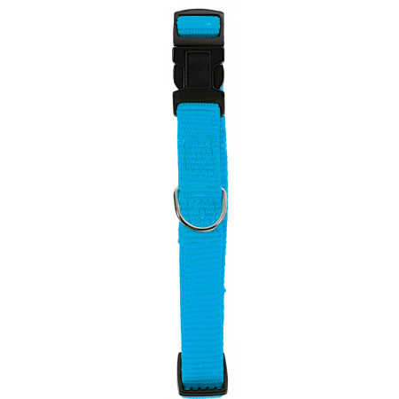 Collier chien réglable 40mm turquoise