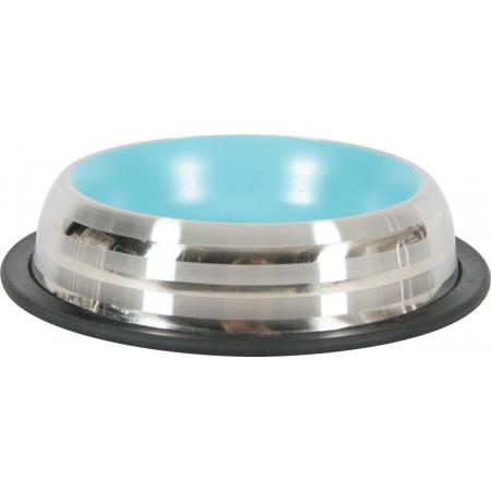 Gamelle inox anti-dérapante 225ml bleu