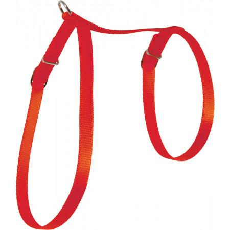 Harnais pour chat en nylon rouge