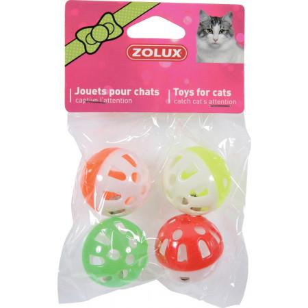 Jouet pour chat 4 sphères avec grelot