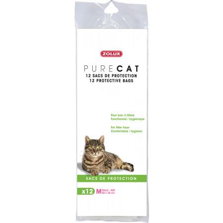 Sacs de protection pour bac à chat x12