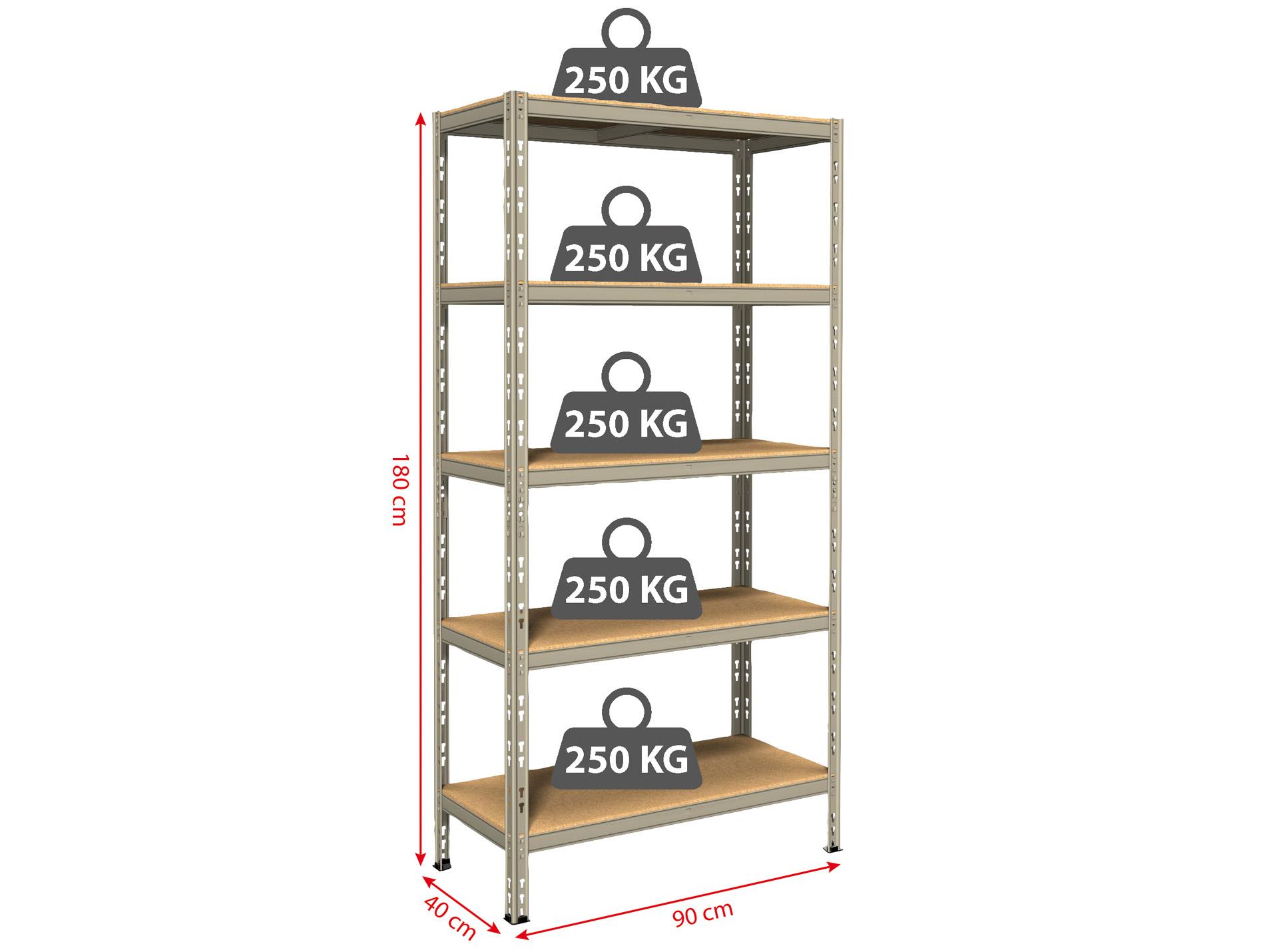etag re m tal compacte 5 tablettes bricolage mat riaux. Black Bedroom Furniture Sets. Home Design Ideas