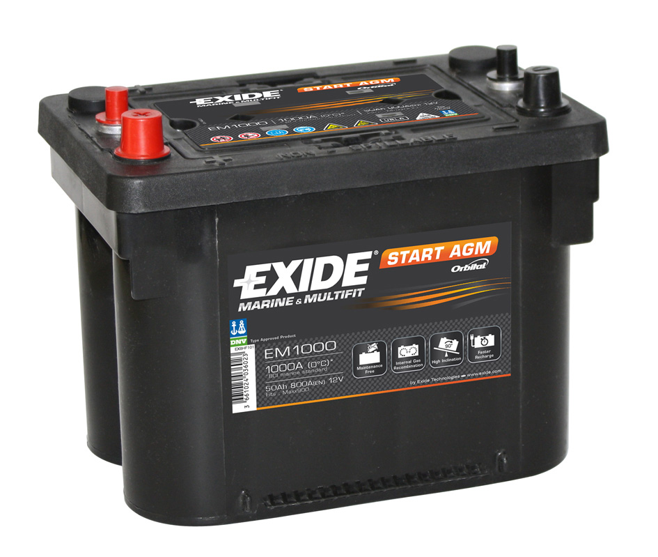 batterie exide start agm 12v 50ah batteries agricoles entretien equipement tracteur. Black Bedroom Furniture Sets. Home Design Ideas