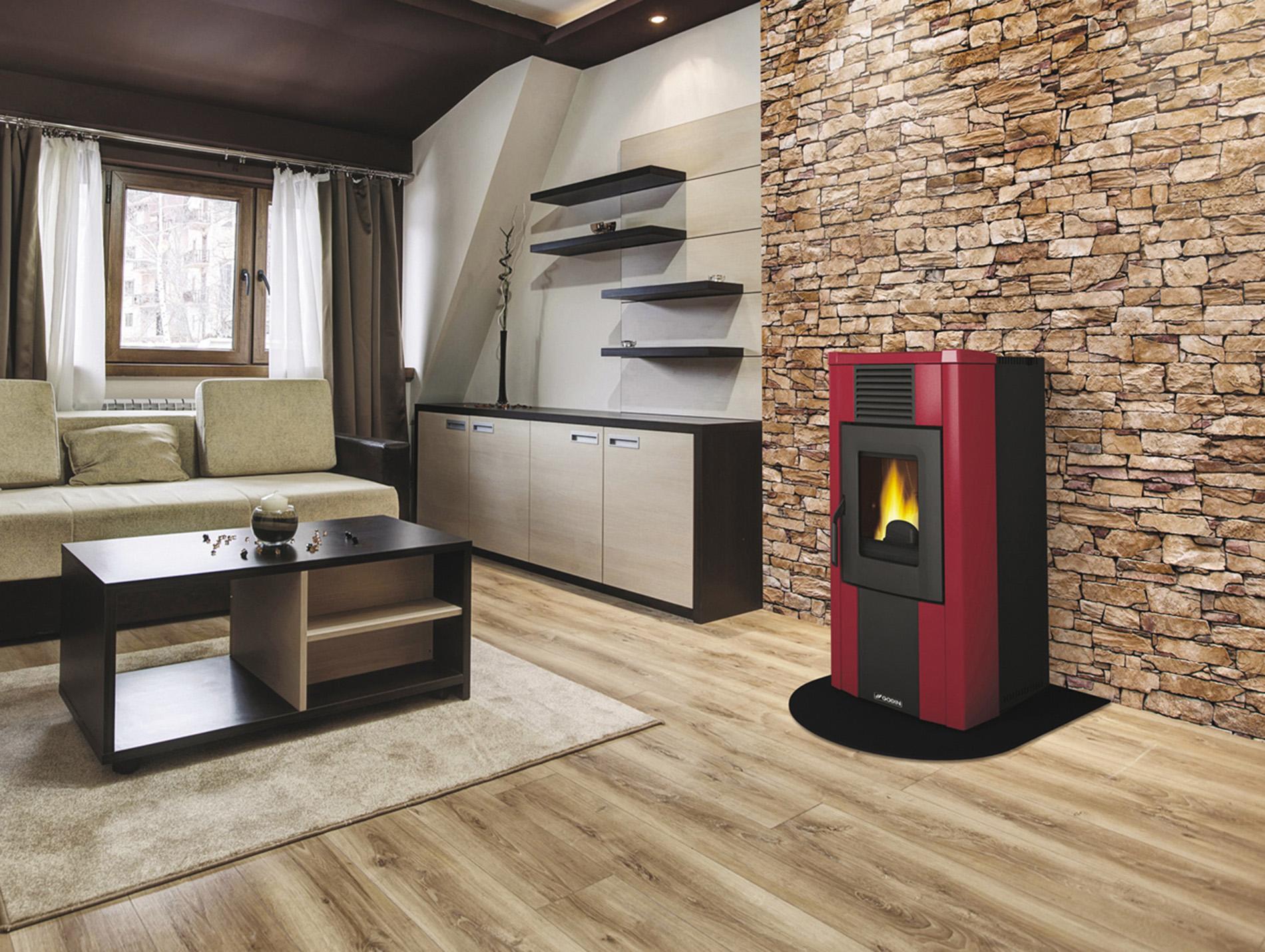 po le pellets godin mercure 10 2kw bordeaux. Black Bedroom Furniture Sets. Home Design Ideas