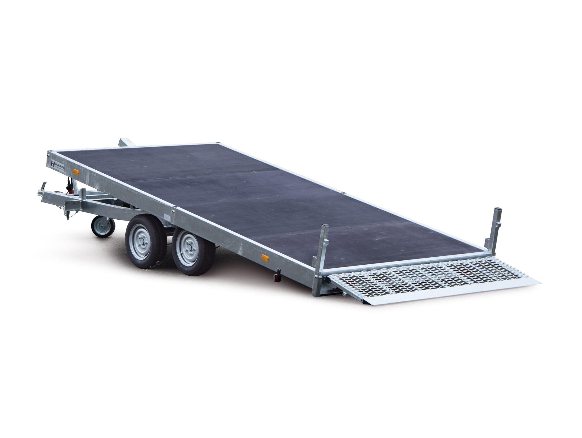 remorque plateau coulissant 4m 2500kg hubiere. Black Bedroom Furniture Sets. Home Design Ideas