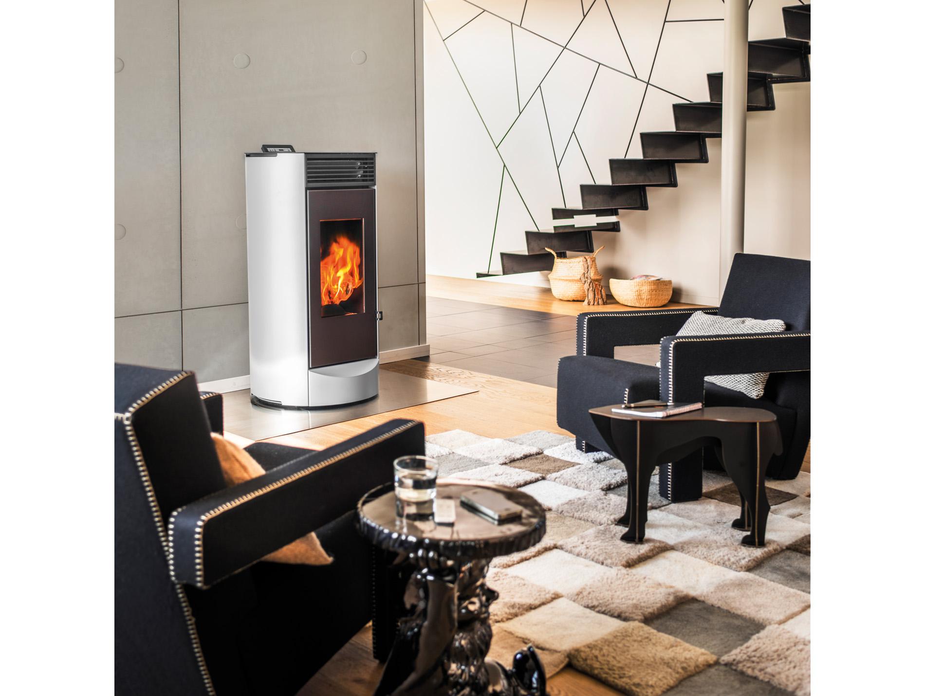 po le granul s invicta lodi10 10kw gris. Black Bedroom Furniture Sets. Home Design Ideas