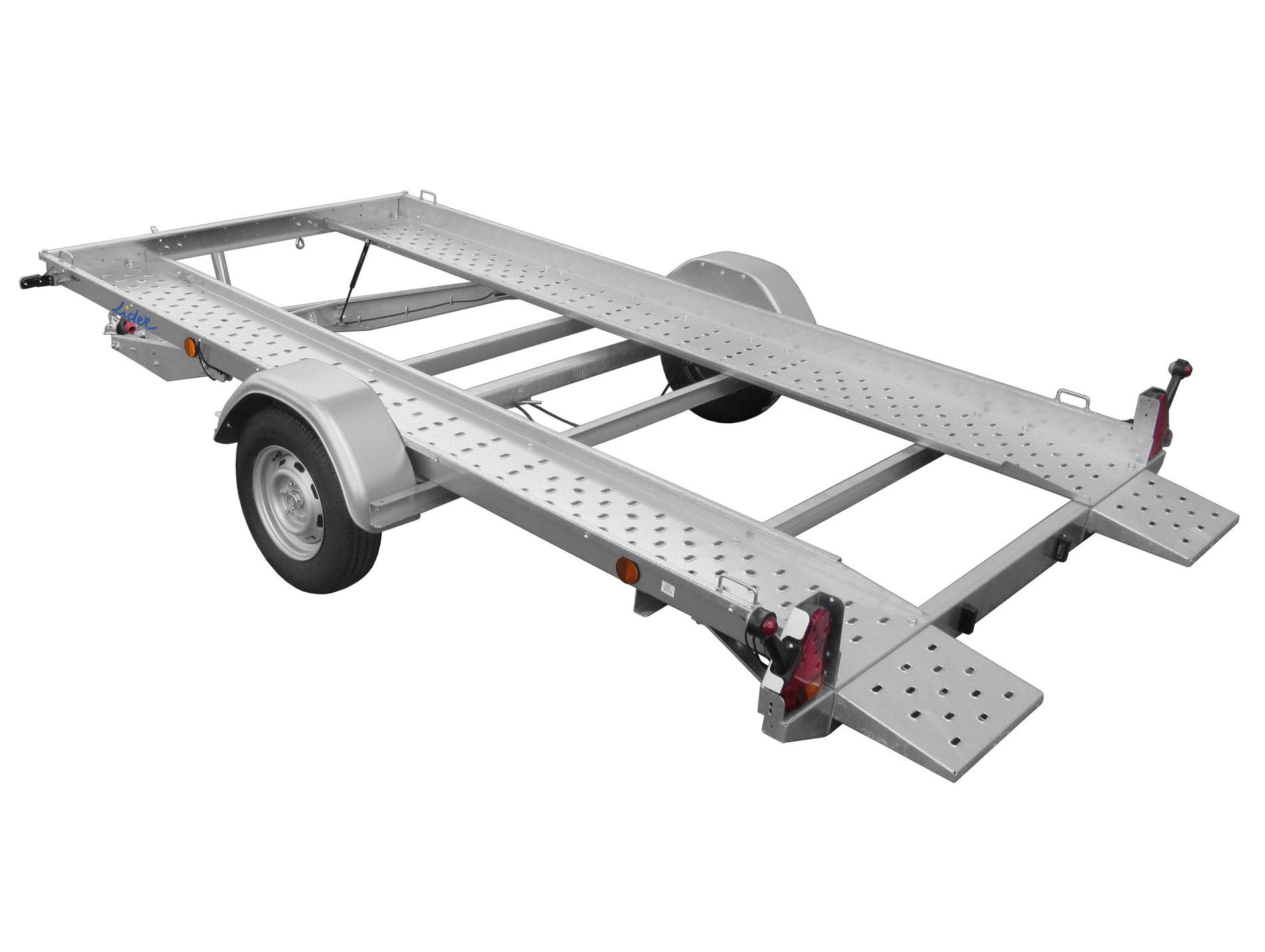 remorque porte voiture avec rampes 1300kg lider. Black Bedroom Furniture Sets. Home Design Ideas