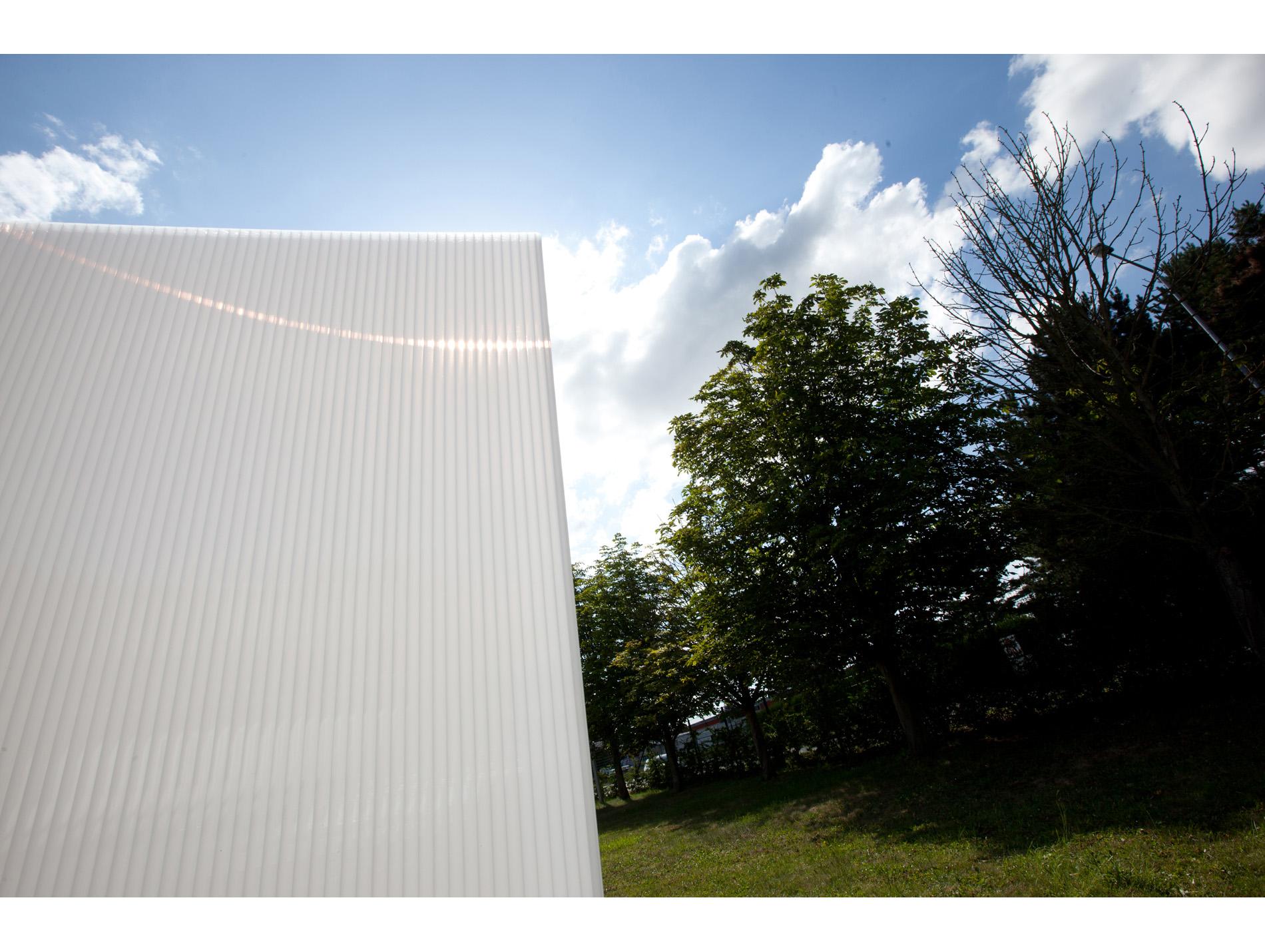 plaque polycarbonate opale 400x125cm 32mm. Black Bedroom Furniture Sets. Home Design Ideas
