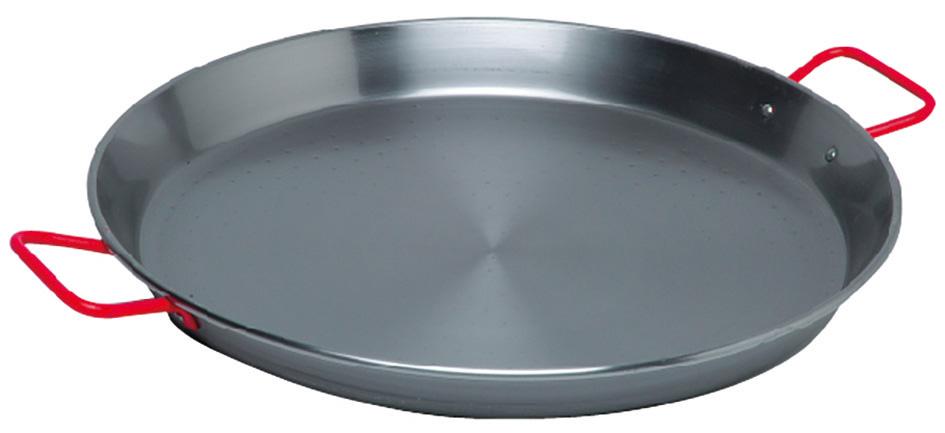 Plat pa lla en acier poli 40cm garcima plat pa lla batterie de cuisine mat riel de - Conservation plat cuisine ...