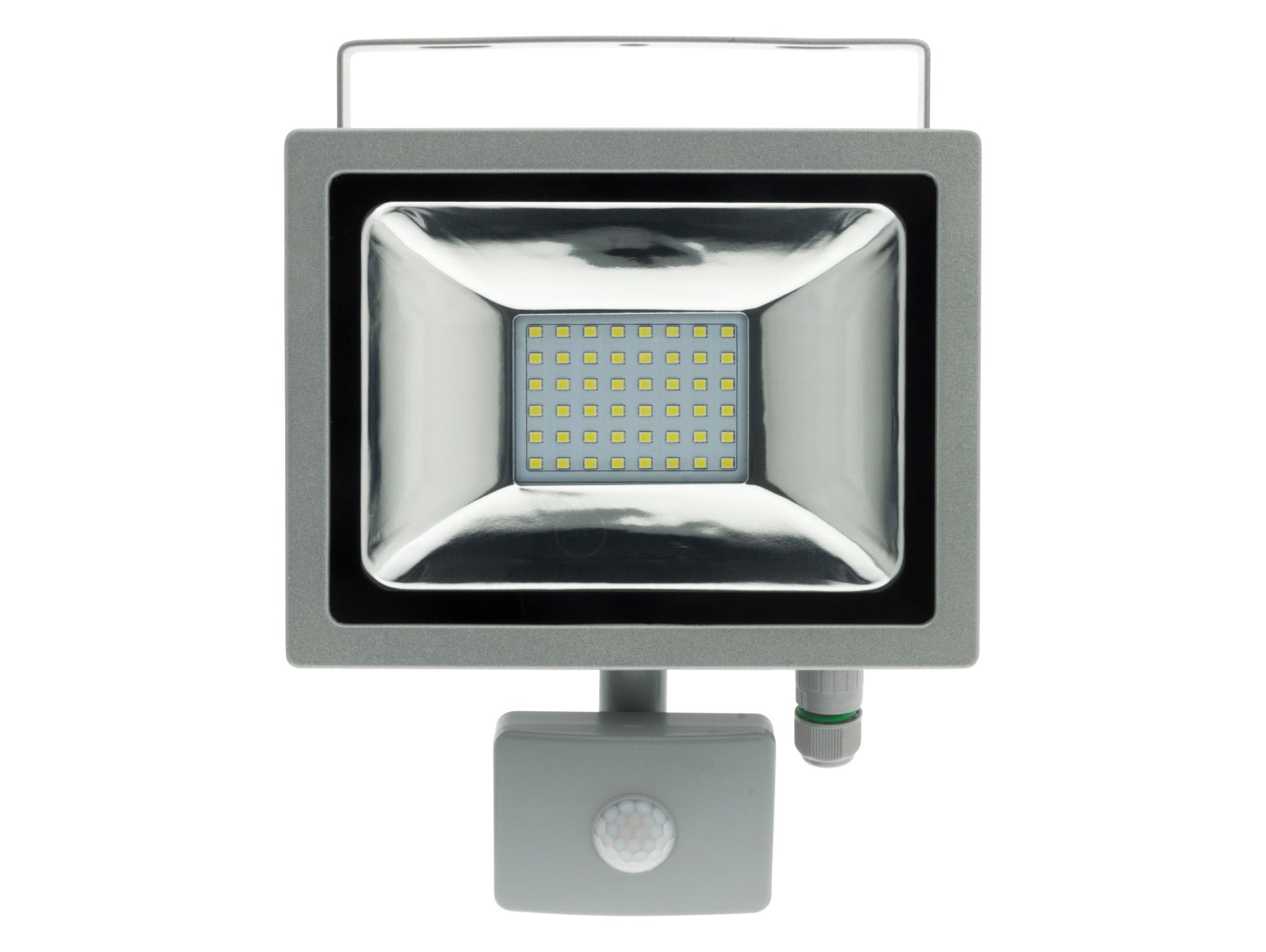 projecteur led 20w avec d tecteur gris projecteur hublot luminaire ext rieur eclairage. Black Bedroom Furniture Sets. Home Design Ideas