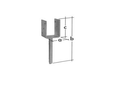 support sceller acier noir 9x9 h32cm. Black Bedroom Furniture Sets. Home Design Ideas