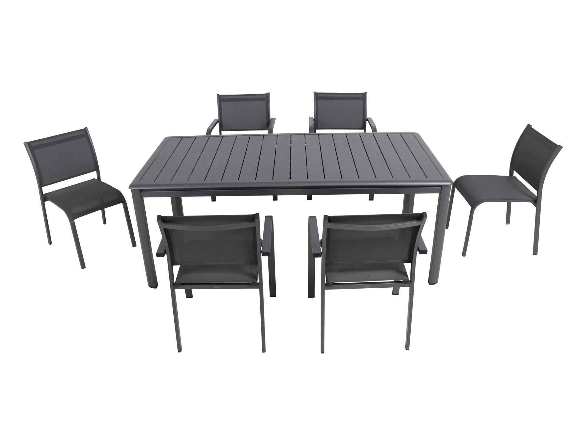 table aluminium rocco mobilier de jardin am nagement ext rieur. Black Bedroom Furniture Sets. Home Design Ideas
