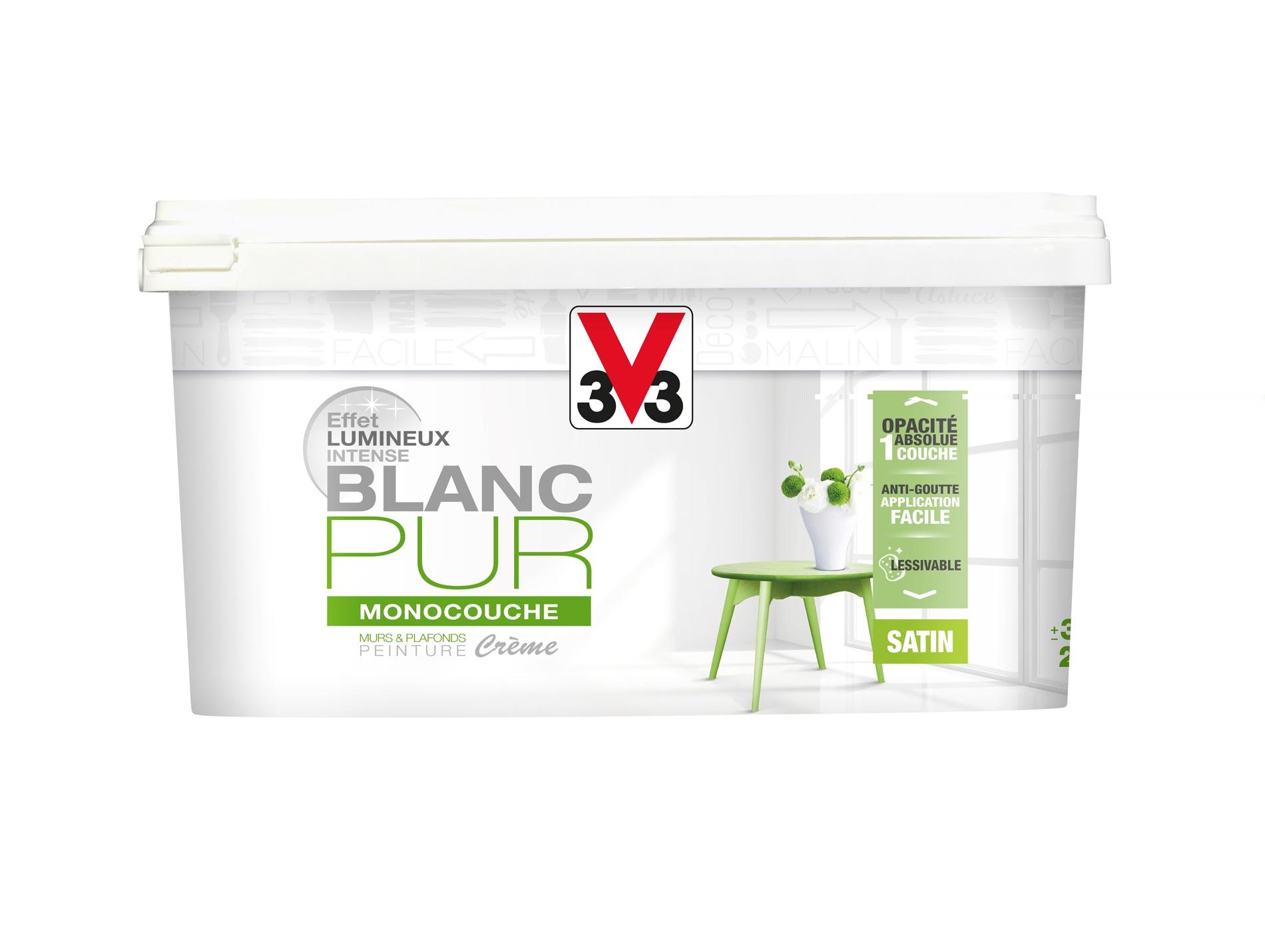 Crème Monocouche V33 Blanc Pur Satin 25l