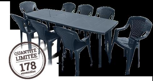 Ensemble table + 8 fauteuils Quantité limitée 178
