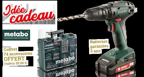 Perceuse visseuse à percussion 18 V SB18 + coffret 74 accessoires offert, batteries garanties 3 ans