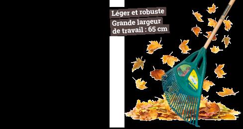 Balai à gazon XL - Léger et robuste - Grande largeur de travail : 65 cm